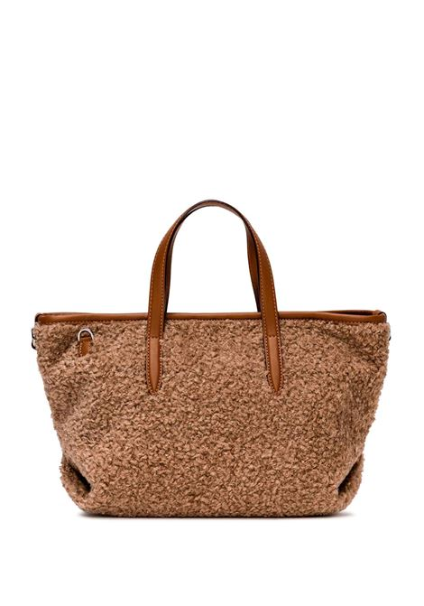 Women's Shoulder Bag Atena in Leather and Tan Wool with Adjustable and Detachable Leather Cross-body Strap Gianni Chiarini | Bags and backpacks | BS860011567