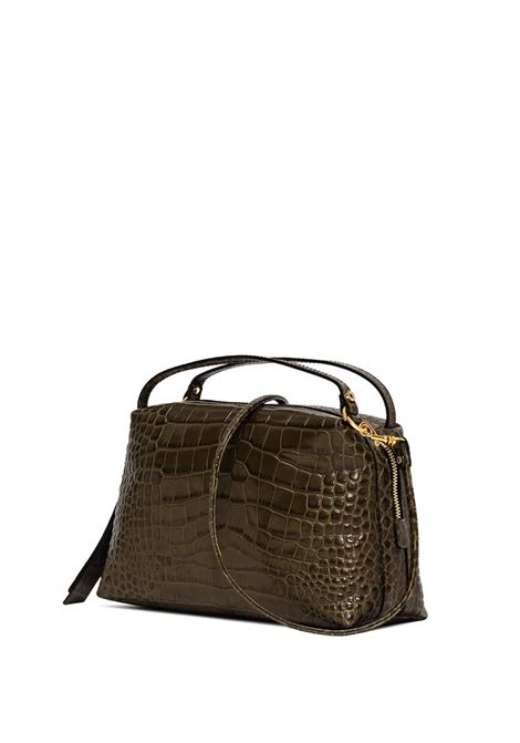 Women's Shoulder Bag Alifa in Green Croc-print Leather with Double Handles and Adjustable And Detachable Gold Chain Shoulder Strap Gianni Chiarini | Bags and backpacks | BS87187390