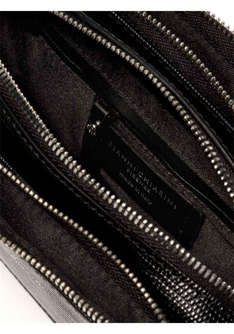 Borsa Donna Pochette Debbie a Tracolla in Pelle Stampata Tejus Nero con Tracolla Regolabile e Removibile in Tono Gianni Chiarini | Borse e zaini | BS8790001