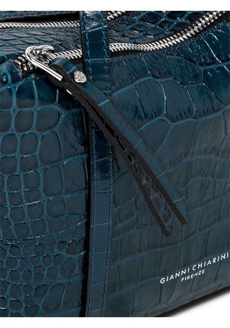 Borsa Donna Pochette Tracy a Tracolla in Pelle Stampata Cocco Blu Doppi Manici con Tracolla Regolabile e Removibile in Tono Gianni Chiarini | Borse e zaini | BS880512067