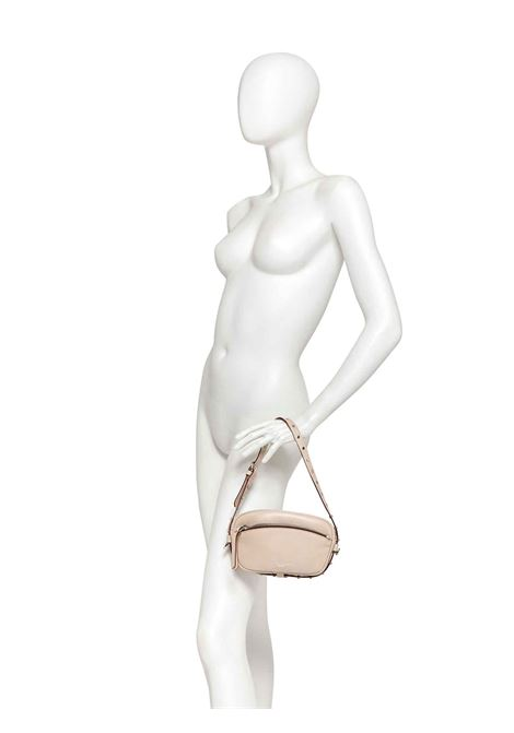 Women's Bag Pouch Molly in Beige Animal Print Leather with Mini Studs and Matching Shoulder Strap Gianni Chiarini | Bags and backpacks | BS88450332