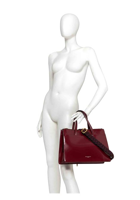 Women's Shoulder Bag Empire In Black Patent Leather With Double Handles And Adjustable And Detachable Cross-body Strap Gianni Chiarini | Bags and backpacks | BS8880001