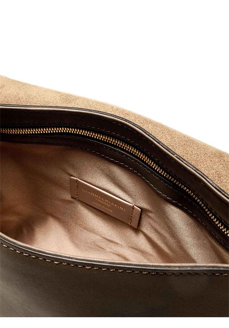Women's Bag Renee in Grey Leather with Magnetic Clasp and Matched Adjustable Handle Gianni Chiarini | Bags and backpacks | BS88926249