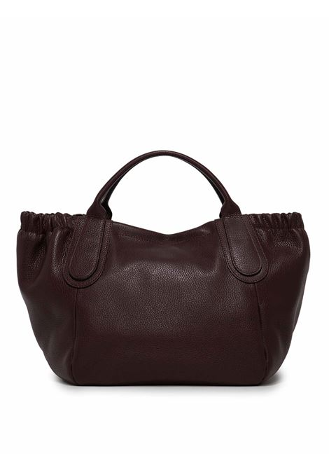 Women's Aria Shoulder Bag in Bordeaux Leather with Double Tone Handles, and Adjustable and Detachable Matching Leather Shoulder Strap Gianni Chiarini | Bags and backpacks | BS89006649