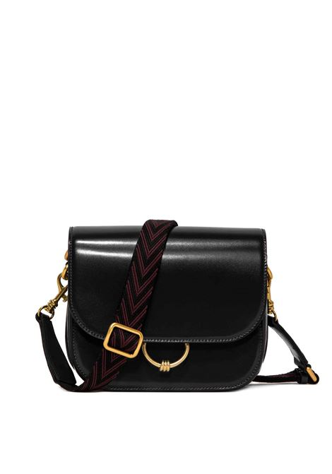 Women's Accessories Shoulder Bag Meg in Black Leather with Magnet Clasp and Detachable Fabric Shoulder Strap Gianni Chiarini | Bags and backpacks | BS8925001