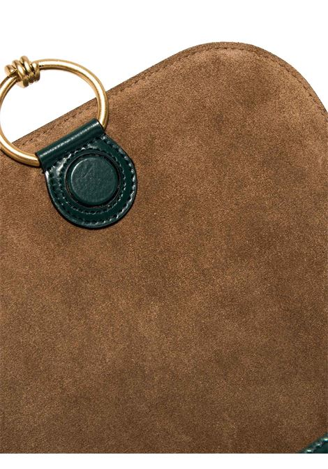 Women's Accessories Shoulder Bag Meg in Green Leather with Magnet Clasp and Detachable Fabric Shoulder Strap Gianni Chiarini | Bags and backpacks | BS89252208