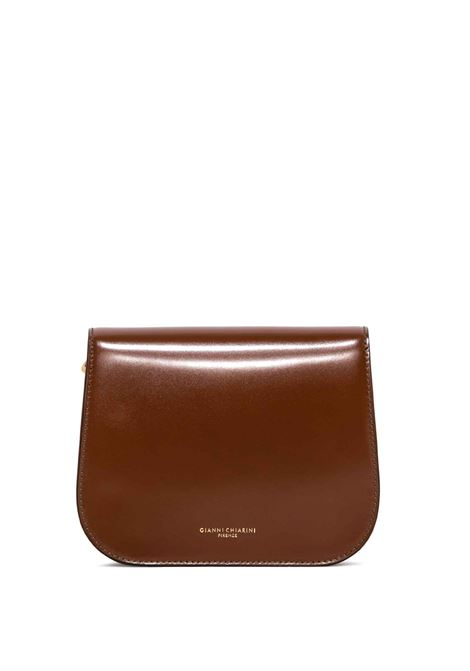 Women's Accessories Shoulder Bag Meg in Tan Leather with Magnet Clasp and Detachable Fabric Shoulder Strap Gianni Chiarini | Bags and backpacks | BS8925231
