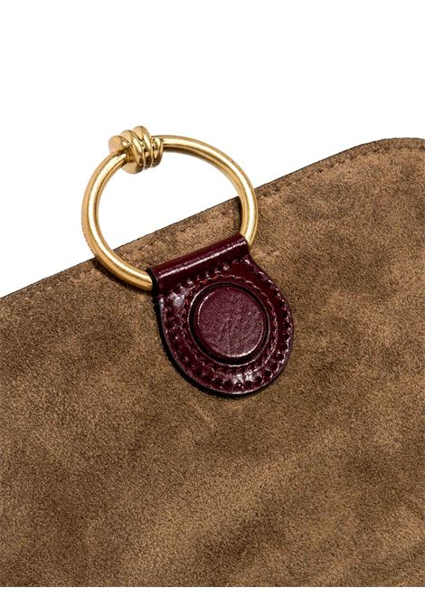 Women's Accessories Shoulder Bag Meg in Bordeaux Leather with Magnet Clasp and Detachable Fabric Shoulder Strap Gianni Chiarini | Bags and backpacks | BS89256653
