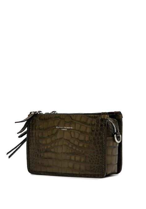 Women's Debbie Shoulder Bag in Coconut Mud Printed Leather with Adjustable Leather Strap Gianni Chiarini | Bags and backpacks | BS9380013