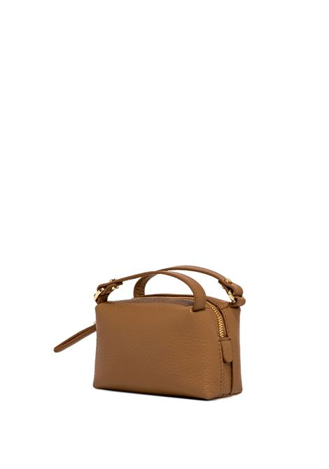 Women's Mini Bag Alifa Shoulder Bag in Glossy Tan Leather with Detachable Gold Chain Shoulder Strap Gianni Chiarini | Bags and backpacks | BSM8610009