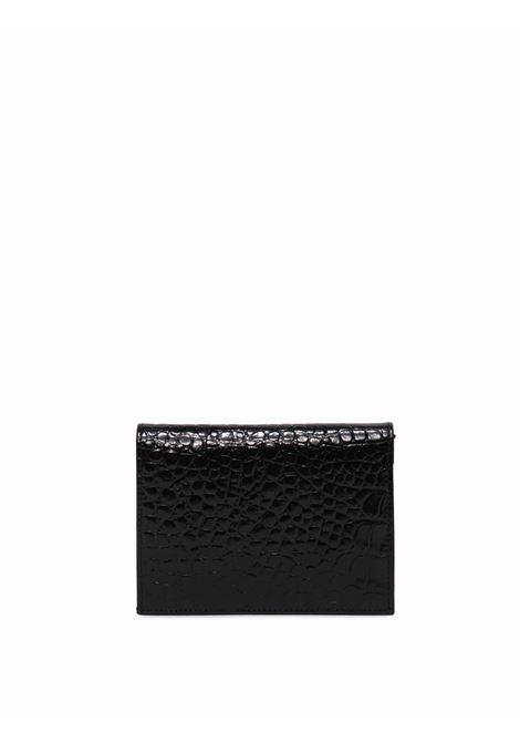 Accessori Donna Portafoglio Co Astara Wallets in Pelle Stampata Cocco di Colore Nero Lucido Gianni Chiarini | Portafogli | PF5060001