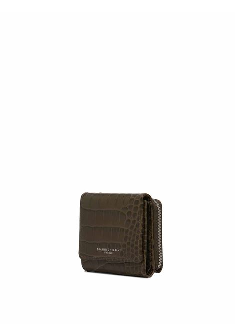 Women's Accessories Essential Wallet in Glossy Green Crocodile Printed Leather Gianni Chiarini | Wallets | PF50807390