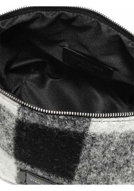 Accessori Donna Piccolo Svuota Borse in Tessuto Bianco e Nero con Tracolla e Bracciale in Pelle Gianni Chiarini | Borse e zaini | SB9390052