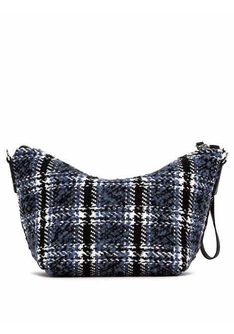 Women's Accessories Small Empty Bag in Blue And Black Fabric with Leather Shoulder Strap and Bracelet Gianni Chiarini | Bags and backpacks | SB939010624