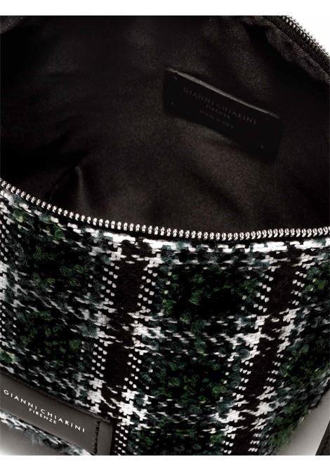 Accessori Donna Piccolo Svuota Borse in Tessuto Verde e Bianco con Tracolla e Bracciale in Pelle Gianni Chiarini | Borse e zaini | SB939011384