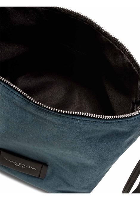 Accessori Donna Piccolo Svuota Borse in Velluto Blu con Tracolla e Bracciale in Pelle Gianni Chiarini | Borse e zaini | SB939012252