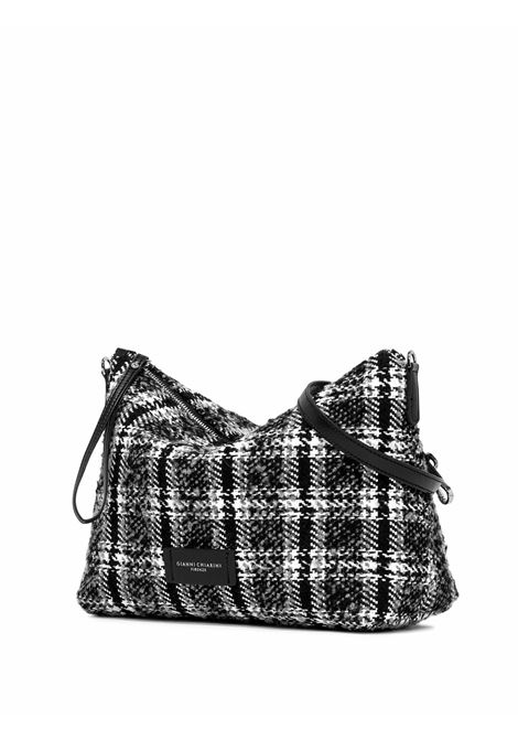 Women's Accessories Empty Bag in White and Black Fabric with Leather Shoulder Strap and Bracelet Gianni Chiarini | Bags and backpacks | SB9391041