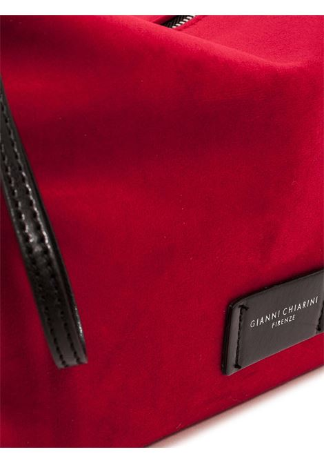 Women's Accessories Empty Bag in Red Fabric with Leather Shoulder Strap and Bracelet Gianni Chiarini | Bags and backpacks | SB9391447