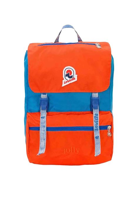 Unisex Icon Collection Jolly Vintage Blue & Orange backpack with padded back and shoulder straps 206001024 Invicta | Bags and backpacks | JOLLY VINTAGEB37