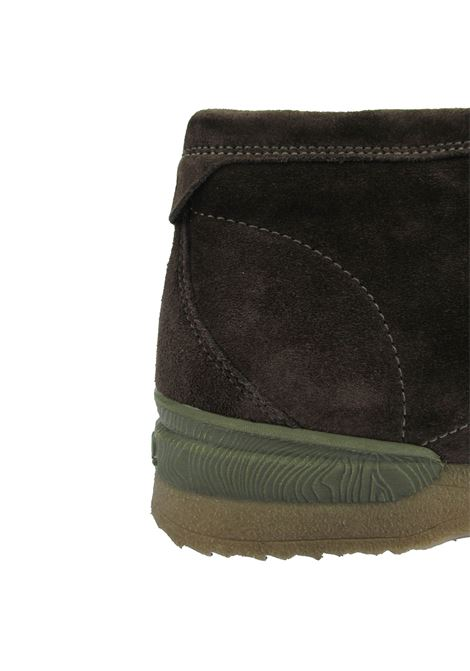 Men's Shoes Ankle Desert Boots in Brown Suede with Stitched and Para Sole Jeep | Ankle Boots | JM12040A014