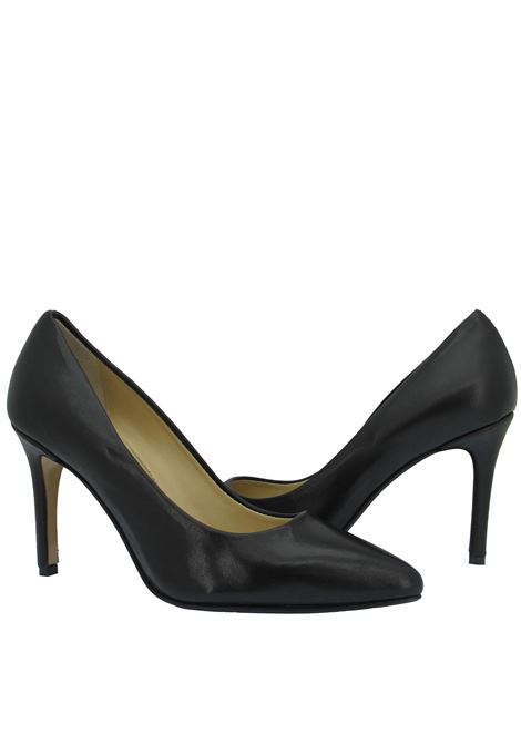 Women's Shoes Pumps Décolleté in Black Leather High Heel Pointed Toe L'Arianna | Pumps | DE 1002001