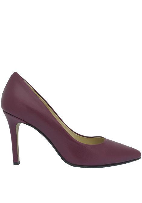 Women's Shoes Pumps Décolleté in Purple Leather High Heel Pointed Toe L'Arianna | Pumps | DE 1002037