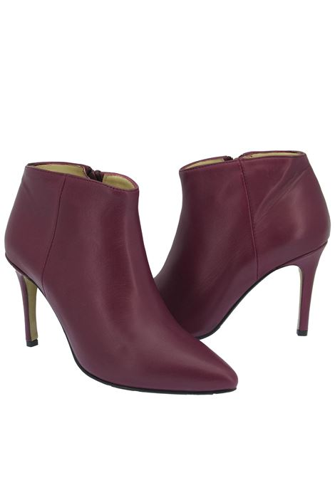Women's Shoes Ankle Boots in Purple Leather High Heel Pointed Toe L'Arianna | Ankle Boots | TR 1429034