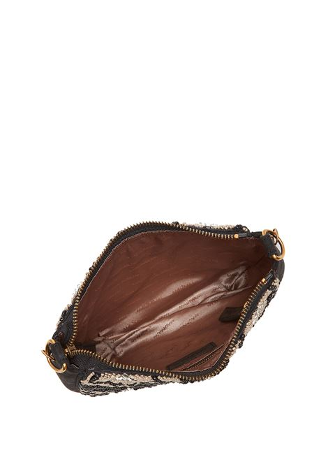 Women's Clutch Bag Winter Beads Black Suede with Beads and Gold Chain Strap Maliparmi | Bags and backpacks | BQ00419079720B99