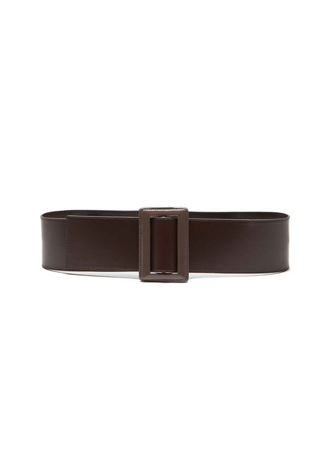 Women's Accessory Belt Fuzzy Wave in Powder Leather and Maxi Buckle in Color Matching Leather Maliparmi | Belts | CA00340147040B21