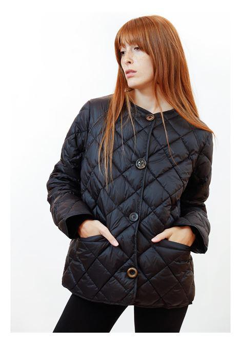Abbigliamento Donna Piumino Quilted in Nylon Nero Trapuntato con Mix di Bottoni Maliparmi | Cappotti e Giacche | JA52655016520000