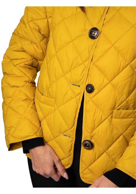 Women's Clothing Quilted Jacket in Mustard Nylon with Mixed Buttons Maliparmi | Coats and jackets | JA52655016570013