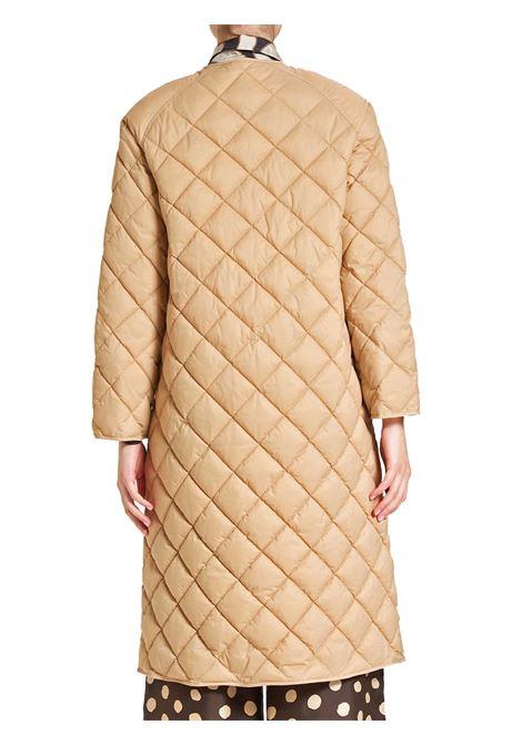 Abbigliamento Donna Cappotto Piumino Quilted Trapuntato in Nylon Beige con Bottoni a Girocollo Maliparmi | Cappotti e Giacche | JB53345016512035