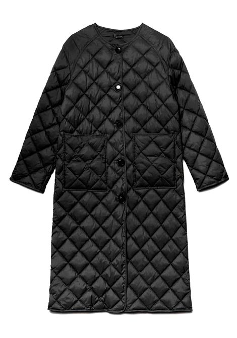 Women's Clothing Coat Quilted Down Jacket in Black Nylon with Crew Neck and Buttons Maliparmi | Coats and jackets | JB53345016520000