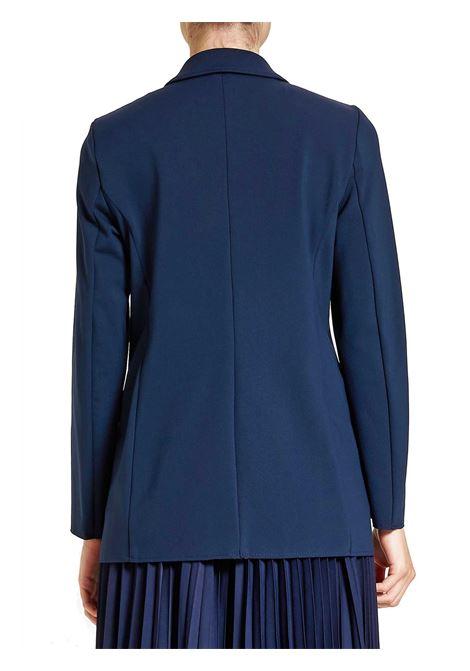 Abbigliamento Donna Giacca Doppiopetto Techno in Stretch Blu Maliparmi | Giacche e giubbini | JD63986005780000