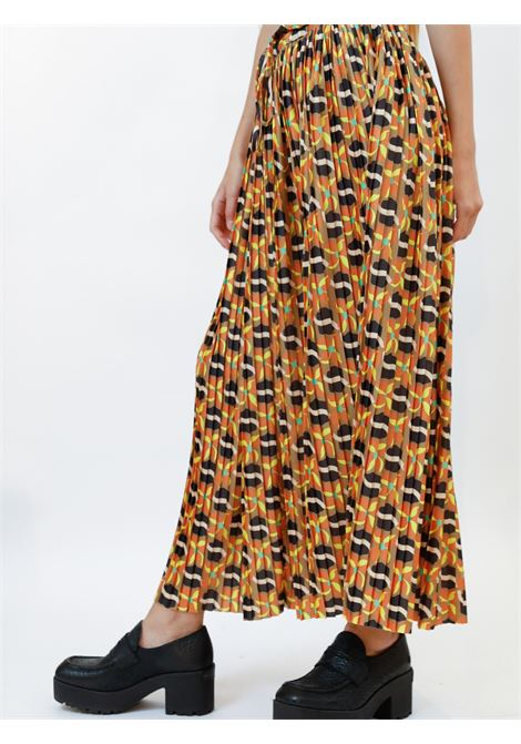 Abbigliamento Donna Gonna Daffod in Jersey Stampato Beige a Fantasia Coulisse in Vita Maliparmi | Gonne e Pantaloni | JG362970524B1252