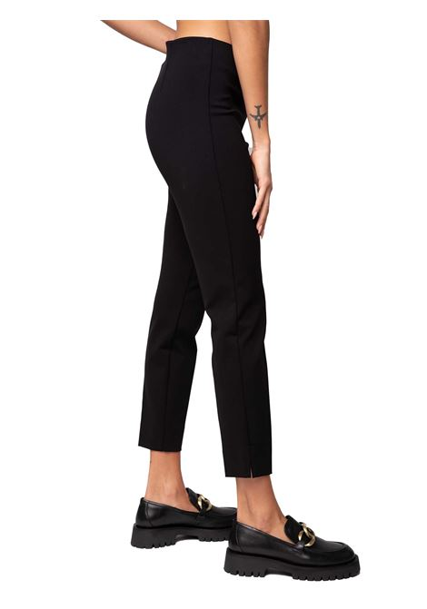 Women's Clothing Trousers Techno Scuba in Black Stretch with Side Zip Closure Maliparmi | Skirts and Pants | JH30376005720000