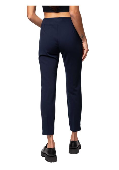 Women's Clothing Trousers Techno Scuba in Blue Stretch with Side Zip Closure Maliparmi | Skirts and Pants | JH30376005780000