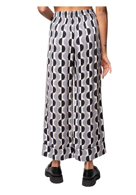 Women's Clothing Trousers Roundgr in Natural Printed Sablè with Flounce at the Bottom Maliparmi | Skirts and Pants | JH739950568B1247