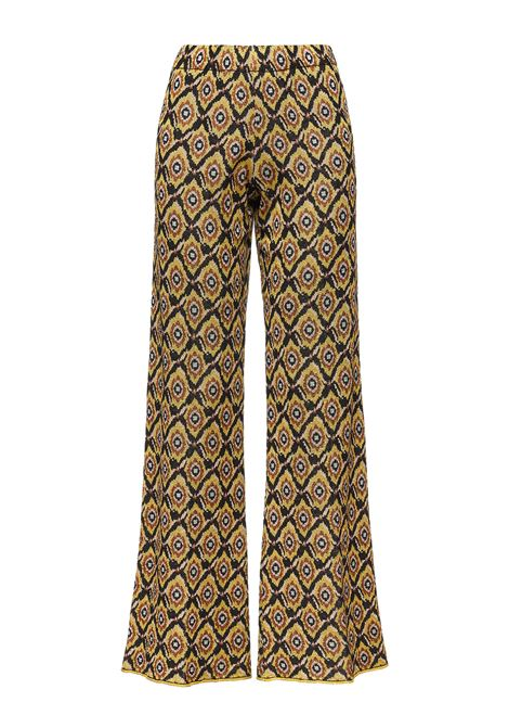 Women's Clothings Trousers Alchimia Jacquard in Knit Black of Viscose and Lurex Maliparmi | Skirts and Pants | JH746878071B2028