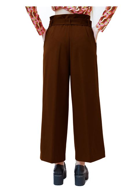 Women's Clothing Pants Techno in Tan Stretch with Belt in Tone Maliparmi | Skirts and Pants | JH74766005741009