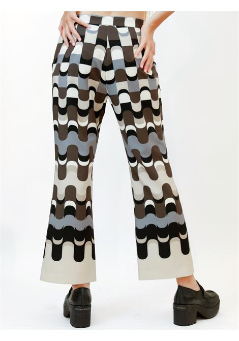 Women's Apparel Neo Modern Trousers Cady with Natural and Grey Patterns Maliparmi | Skirts and Pants | JH747960051B1246