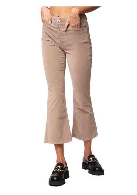 Women's Clothing Trousers Cotton Velvet in Taupe Cotton Velvet Flar-leg and French Pockets Maliparmi | Skirts and Pants | JH74806005212011