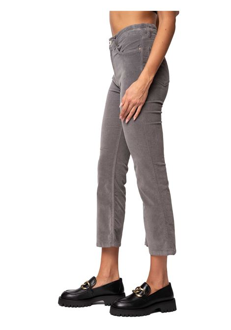 Women's Clothing Trousers Cotton Velvet in Grey Cotton Velvet Flar-leg and French Pockets Maliparmi | Skirts and Pants | JH74806005221020