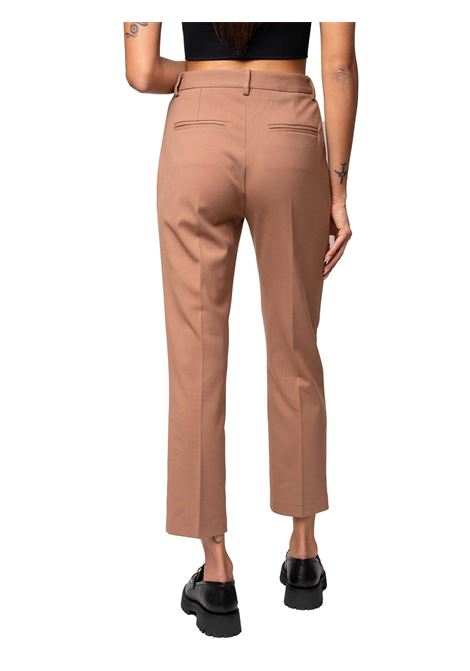 Women's Clothing Trousers Diagonal Wool Blend in Fluid and Matt Viscose-Wool Blend Walnut and Welted Pockets Maliparmi | Skirts and Pants | JH74852019512009