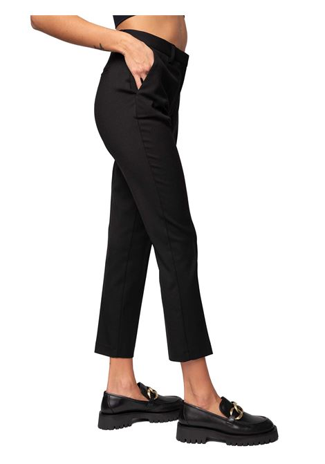 Women's Clothing Trousers Diagonal Wool Blend in Fluid and Matt Viscose-Wool Blend Black and Welted Pockets Maliparmi | Skirts and Pants | JH74852019520000