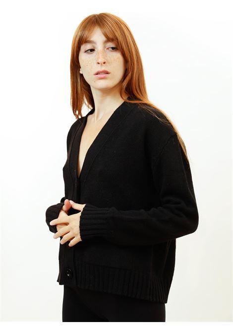 Abbigliamento Donna Cardigan Misto Cachemire in Nero con Bottoni in Tinta Maliparmi | Maglieria | JN35537431520000