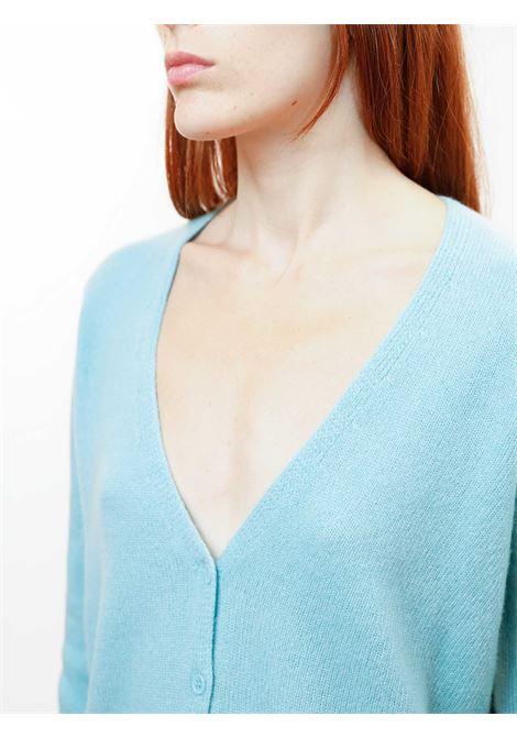 Abbigliameto Donna Cardigan Soft in Cashemire Verde con Bottoncini in Tinta Maliparmi | Maglieria | JN35757045760012