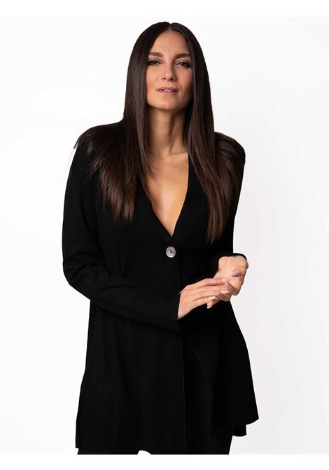 Women's Clothing Cardigan Colors of the World in Warm and Light Wool Black Maliparmi | Knitwear | JN35787423020000