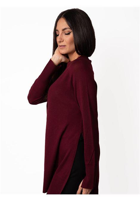 Women's Clothing Cardigan Colors of the World in Warm and Light Wool Bordeaux Maliparmi | Knitwear | JN35787423033010