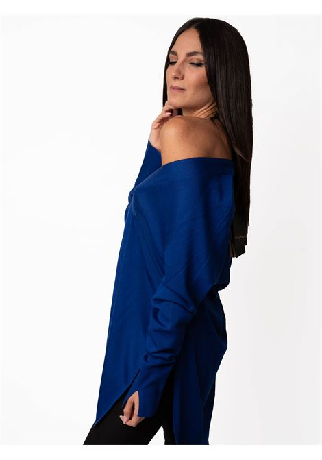 Women's Clothing Cardigan Colors of the World in Warm and Light Wool Blue Maliparmi | Knitwear | JN35787423080059